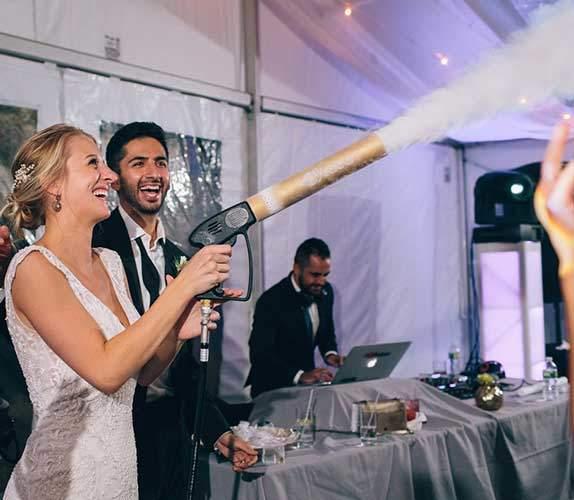 Persian Wedding DJ Cyro C02 Gun | CYRO C02 Cannons Gun | LED CO2 Cryo Cannon | DJ Taba