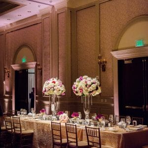 Pin Spotting Lighting Centerpieces | Wedding DJ Services | DJ Taba