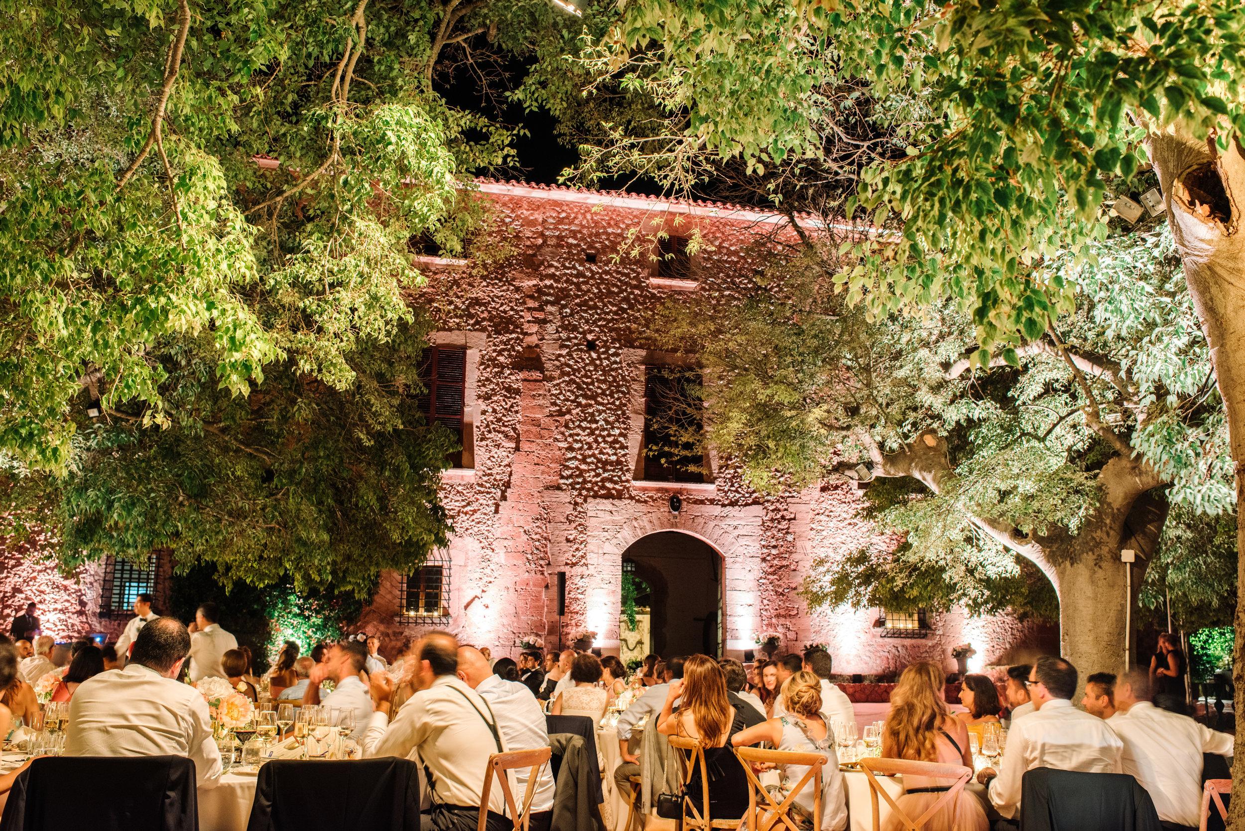 Uplighting Rental outdoor Wedding Dinner